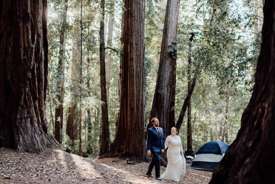 Adventurous camping wedding