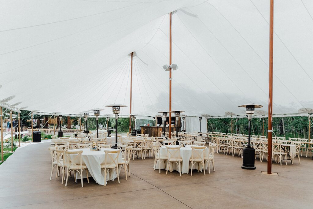 White tent reception