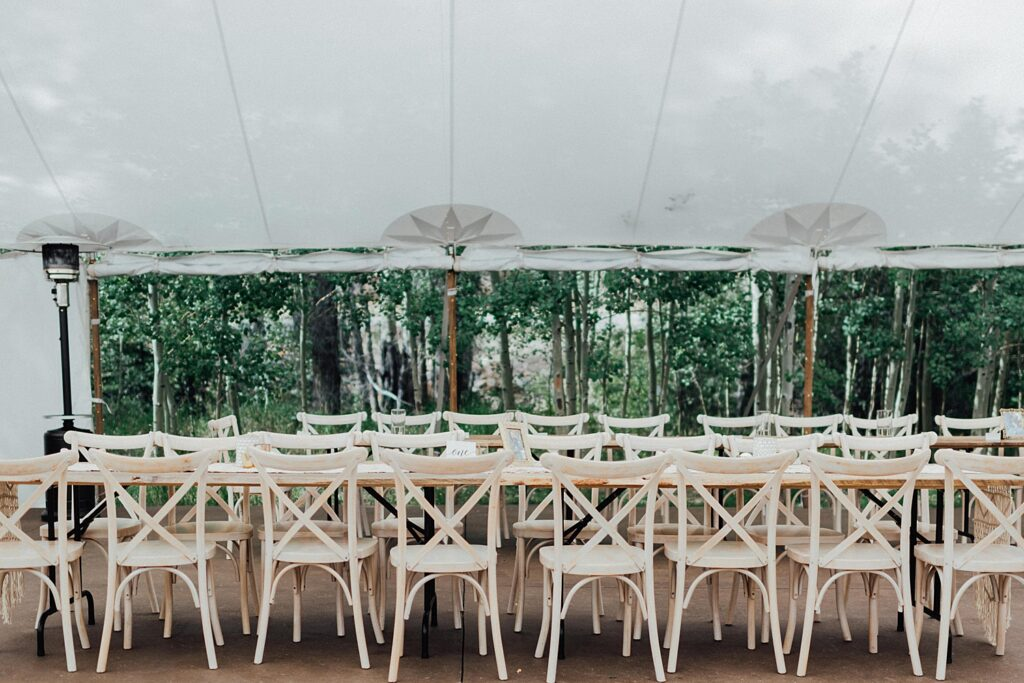 Family style reception tables