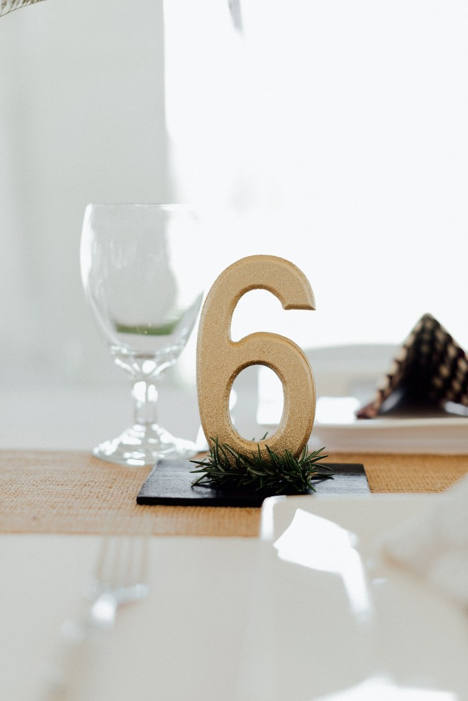 Gold table numbers, wedding table number ideas