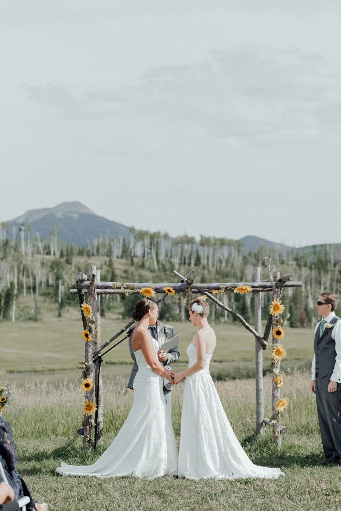 Ceremony at Midnight Ranch near Steamboat Springs, Colorado