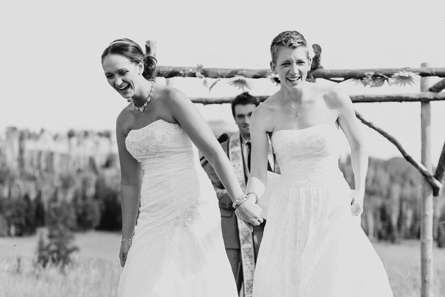 Brides are excited to be married