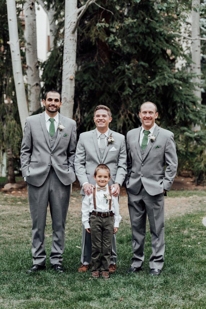 Groomsmen and ring bearer photo ideas