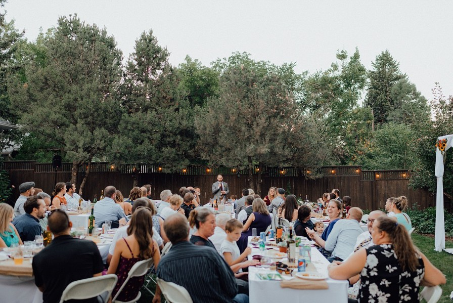 Boulder backyard wedding
