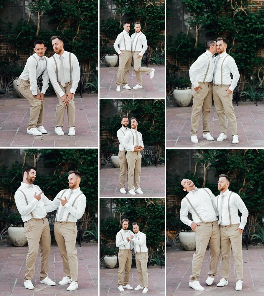 Groomsmen photo ideas, groomsmen outfit ideas, groomsmen suspenders, groomsmen khaki outfits
