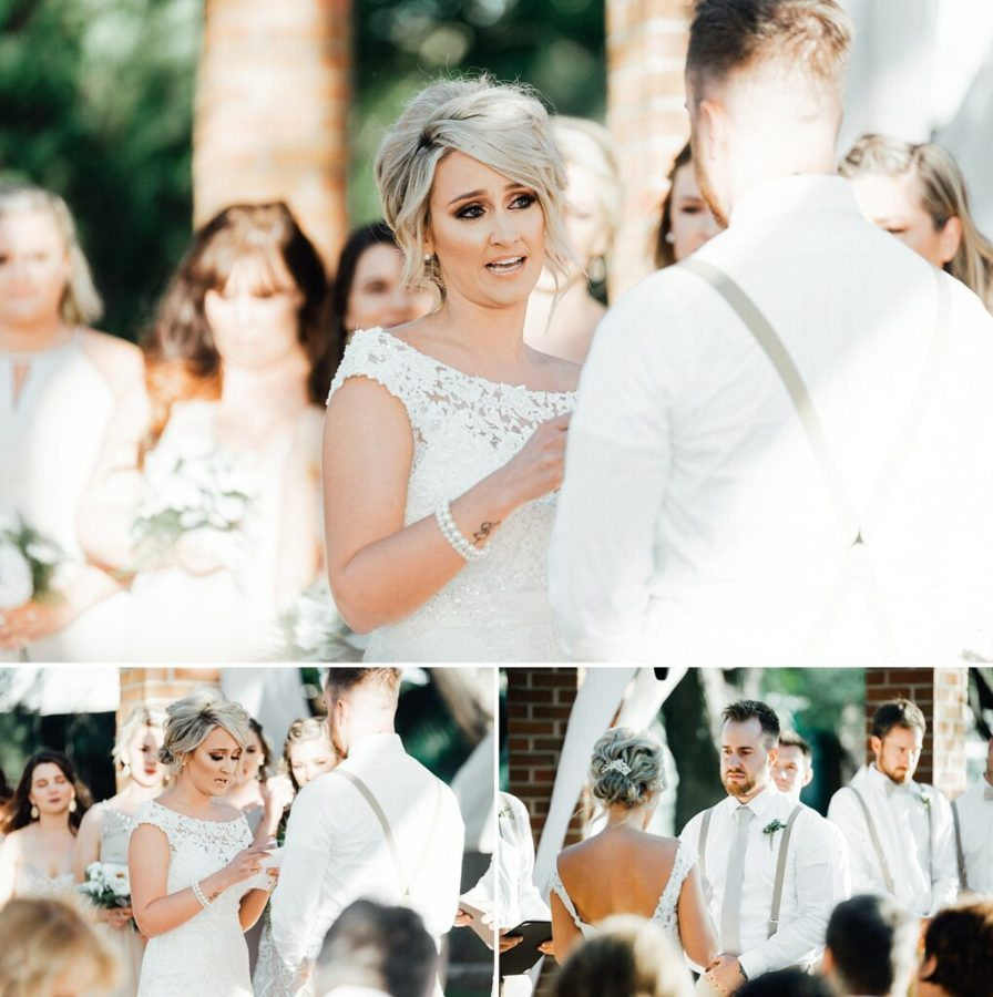 Brides vows to groom