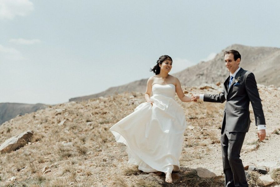 Hiking Loveland Pass on wedding day