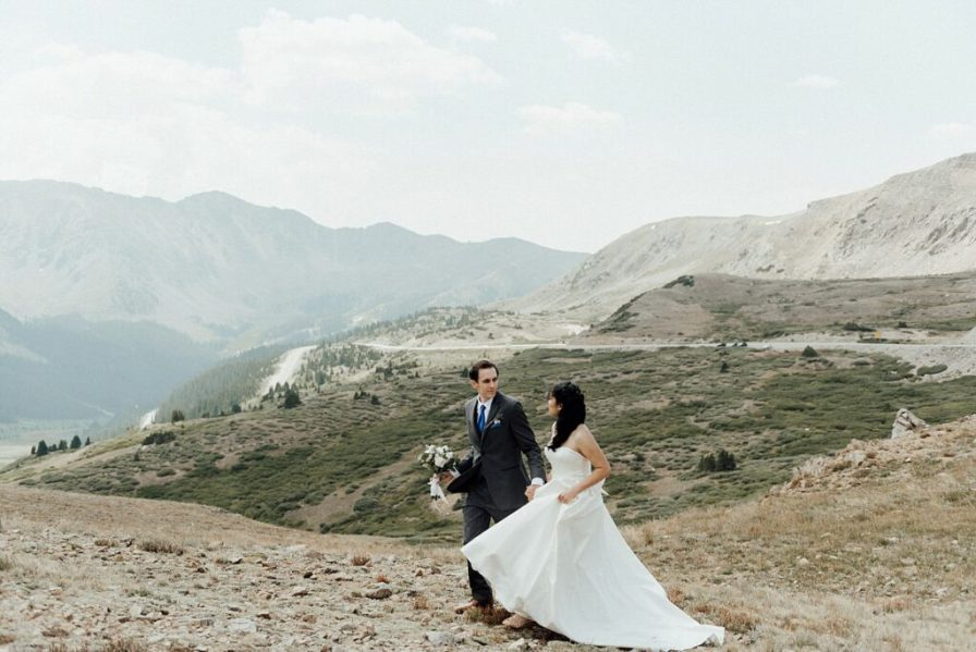 Hiking Loveland Pass for elopement