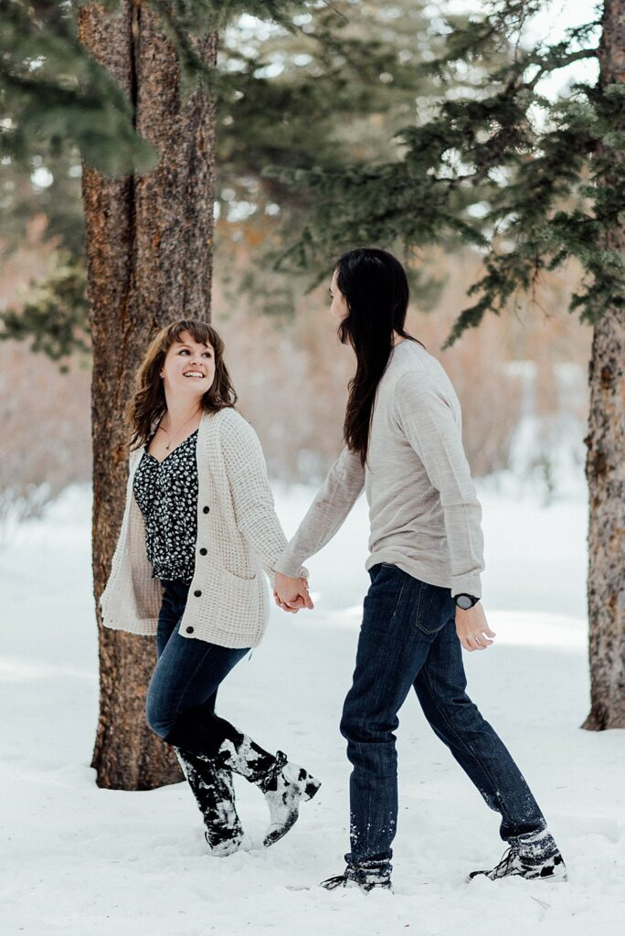 Engagement photo locations in the winter