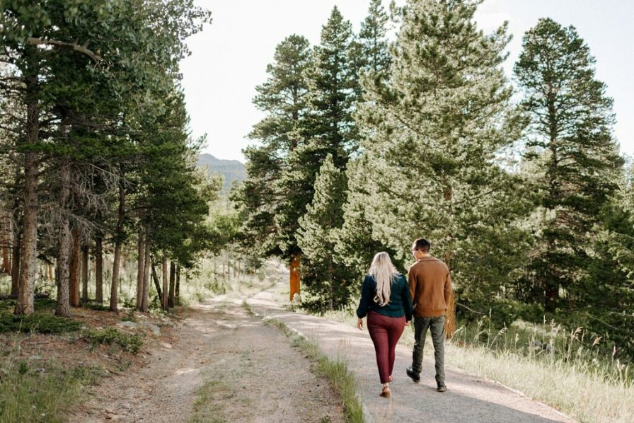 engagement session at Lily Lake