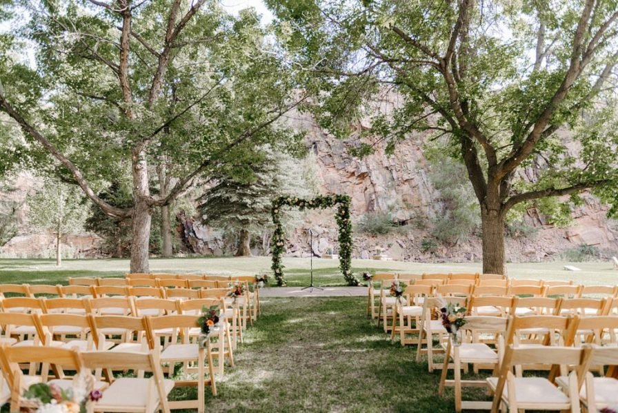 River Bend summer wedding ceremony
