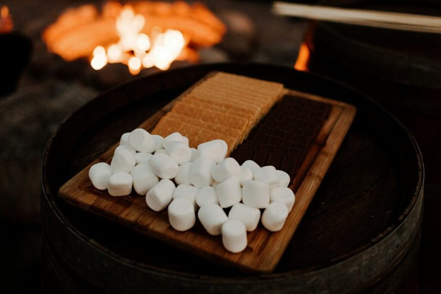 smores at the fire