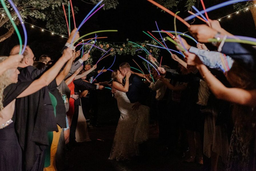 glowstick wedding send-off