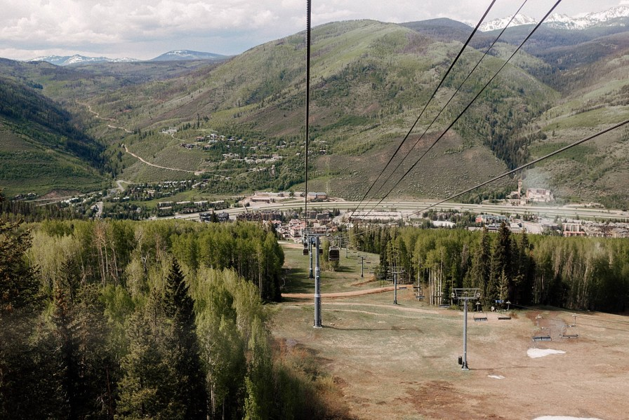 gondola ride up to the top of vail ski resort