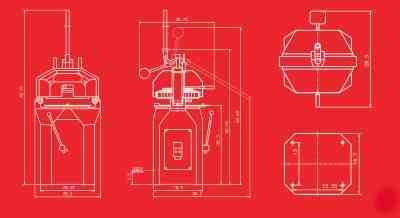 Erika Record Semi RH Divider Rounder | Technical Drawing