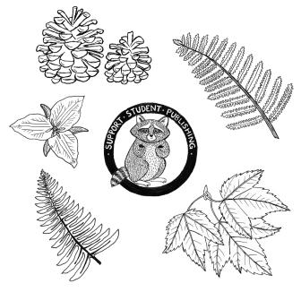 Flora & fauna drawings Erika Schnatz