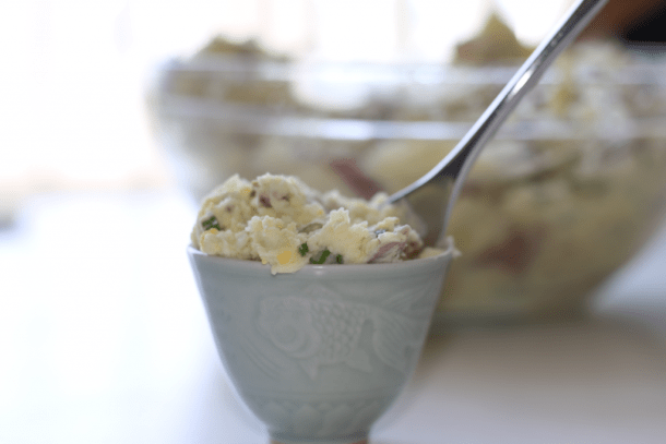 Low FODMAP Potato Salad | erikasglutenfreekitchen.com