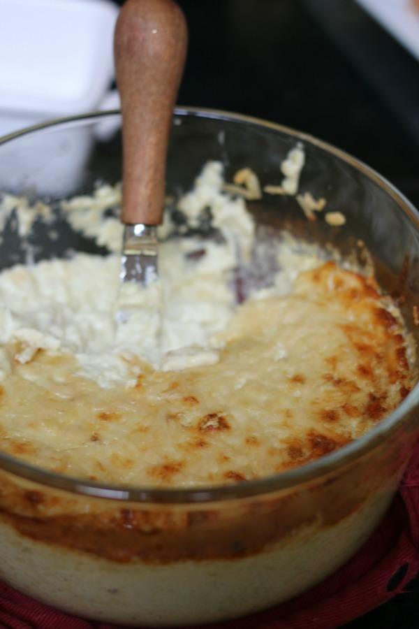 Gluten-free artichoke dip with low FODMAP variation. | Erika's Gluten-free Kitchen www.erikasglutenfreekitchen.com