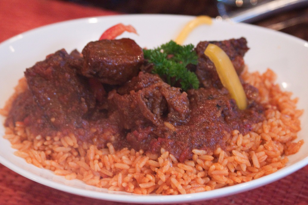Accra - Jollof and Beef Stew PIC: MK