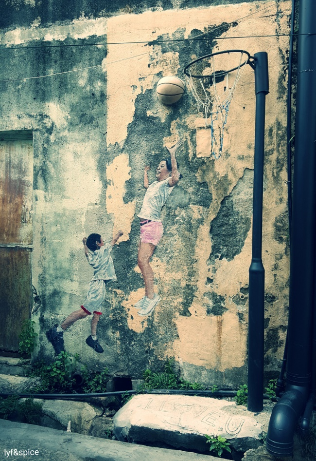 Penang - Children Playing Basketball PIC: AS