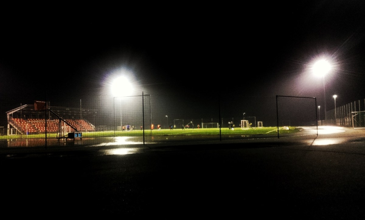 Football field is used even in the evening. PIC: JS