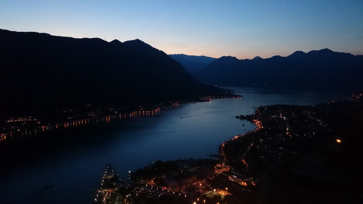 Kotor, Montenegro - The Same View at Night. PIC: JS