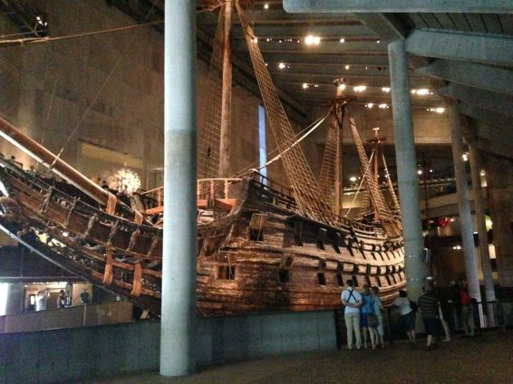 The view of the Vasa that greets you at the museum entrance