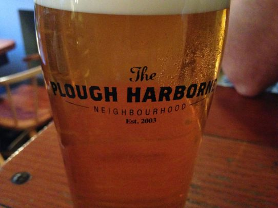 An excellent pub, the Plough. Matt wisely ended up choosing an apartment just a block or two from this excellent pub.