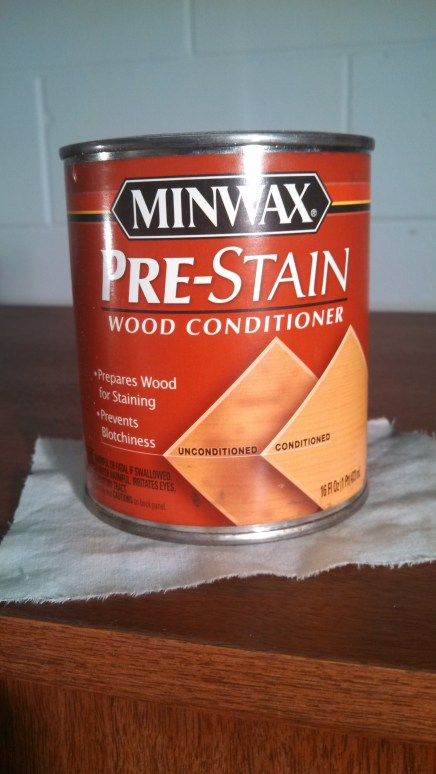 Pic 8 - Depending on type of wood, some may require pre-treatment with a wood conditioner which will help with even absorption of stain. Some woods (i.e. birch) absorb stain unevenly, resulting in a blotchy appearance if not pre-treated.