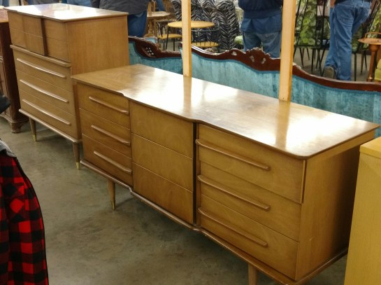 United dresser set as purchased at auction.
