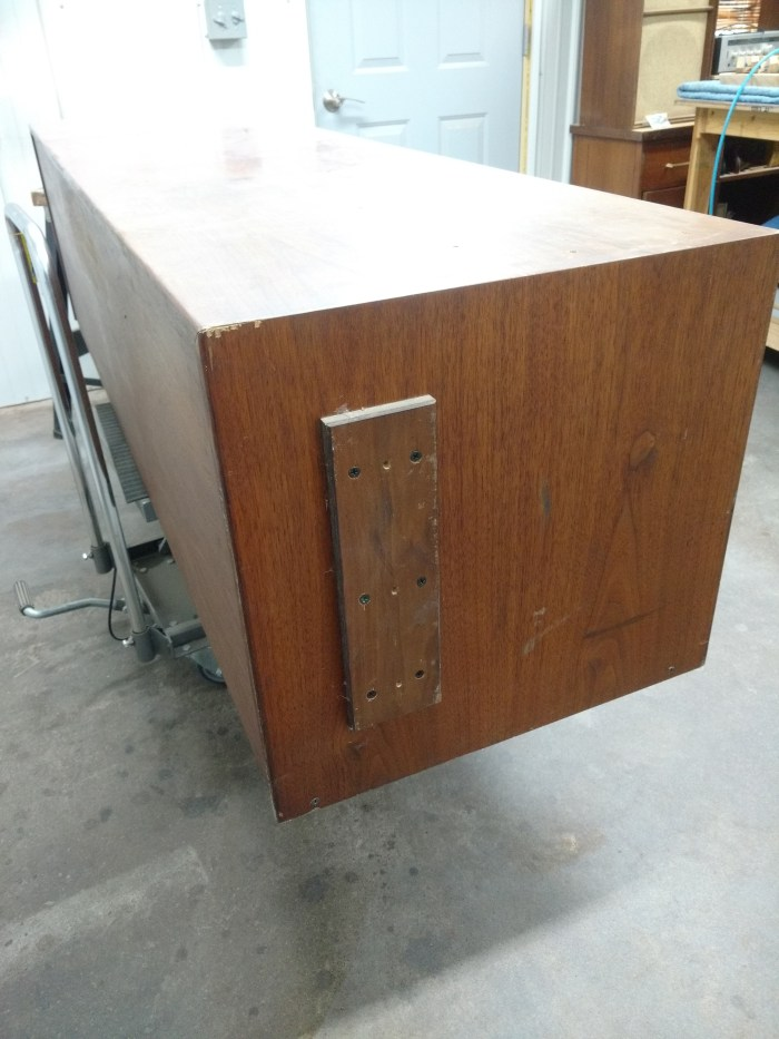 Jens Risom Credenza: Left end before.
