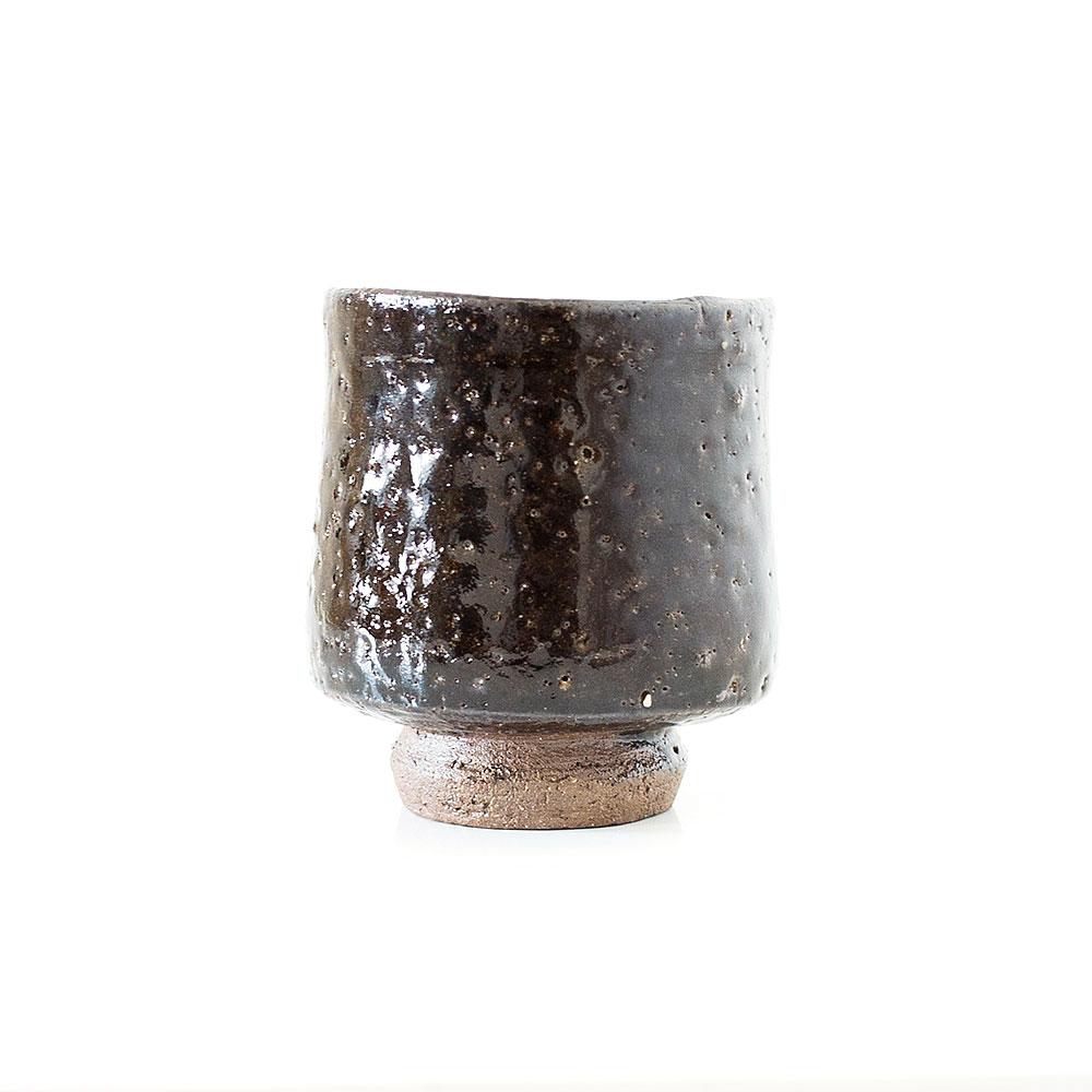 Erik Haugsby Yunomi Cup Native Clay Albany Slip Handmade Pottery Ceramics