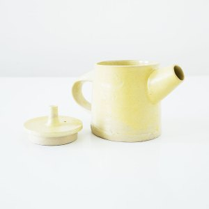 Erik Haugsby Teapot Yellow Handmade Pottery Ceramics