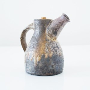 Erik Haugsby Teapot Wood ash Woodfired Celadon Handmade Pottery Ceramics