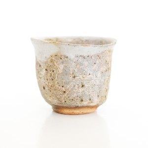 Erik Haugsby Handmade Pottery Guinomi Shot Glass Woodfired Shino