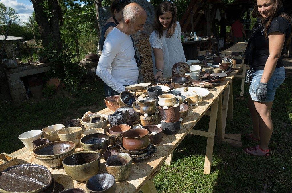 Kiln opening of the Janjagama Anagama Woodfired Kiln Erik Haugsby Pottery