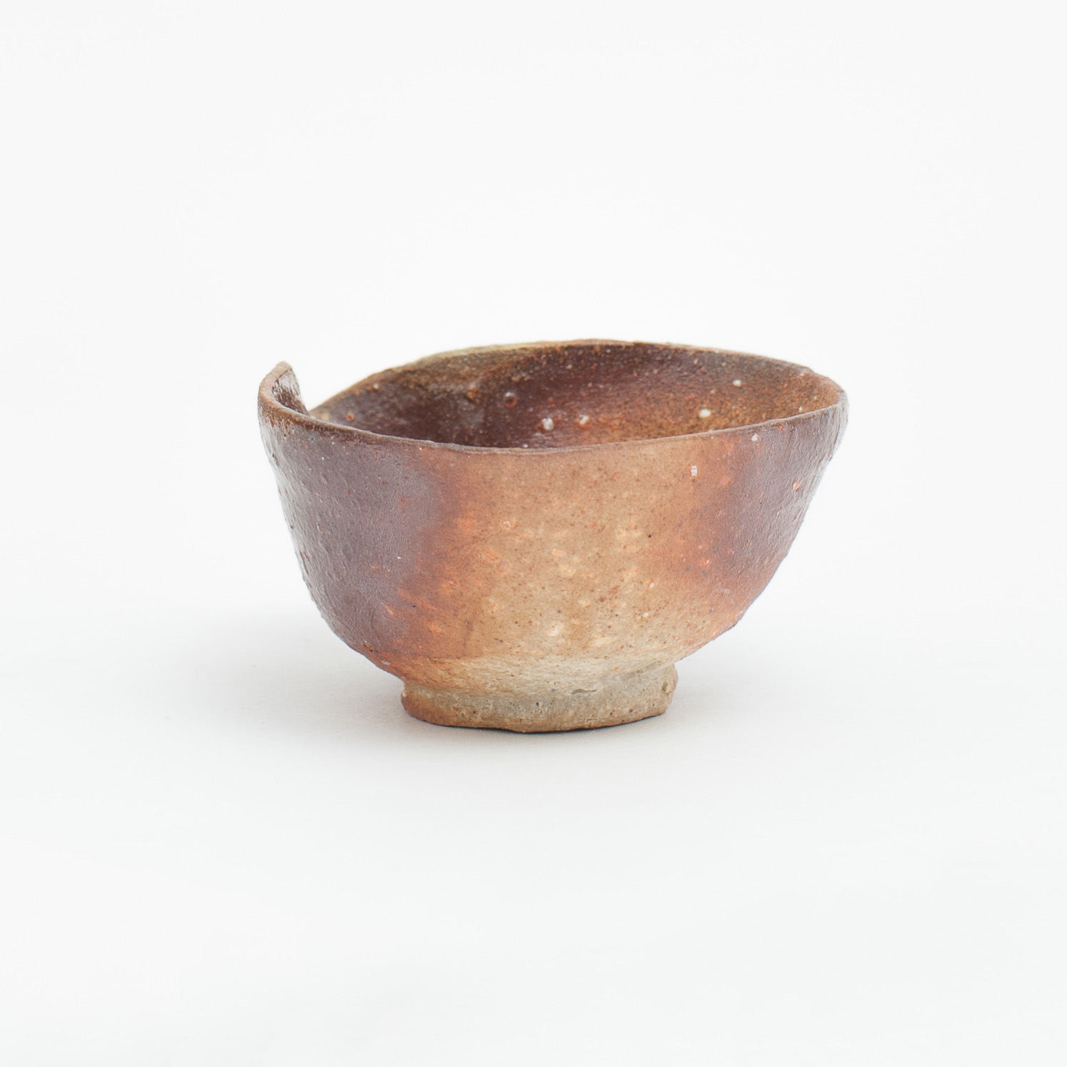 Erik Haugsby handmade pottery woodfired ceramic pouring bowl