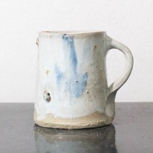 Erik Haugsby Pottery ceramic coffee mug with white nuka glaze