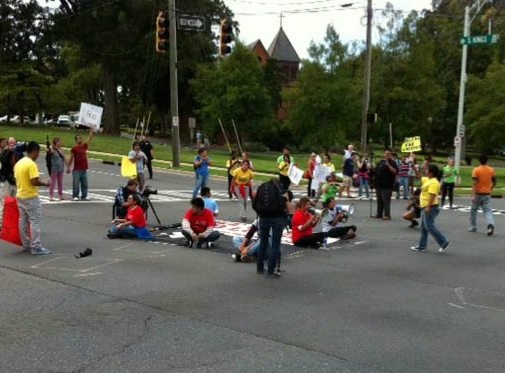 Illegal Immigrant Protest in Charlotte