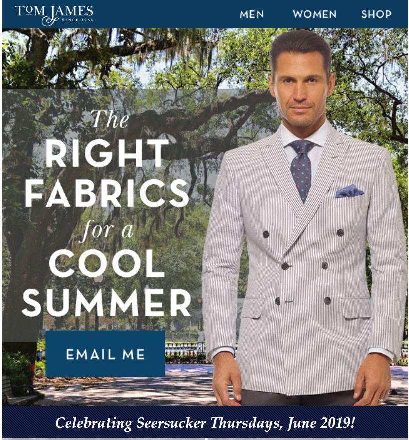 Erik Peterson Tom James Custom Suits shirts Ties Sport Coats Jackets Men Women Tampa Sarasota Lakeland Clearwater St Petersburg