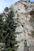 Pat and Shelly on Canabis Sportiva in Boulder Canyon