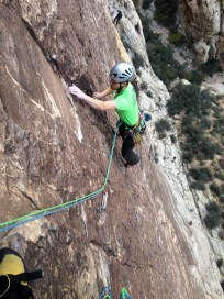 James finishing up pitch 2 on Prince of Darkness