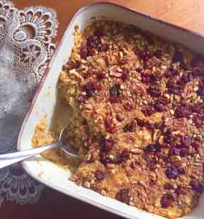 acorn squash baked oatmeal