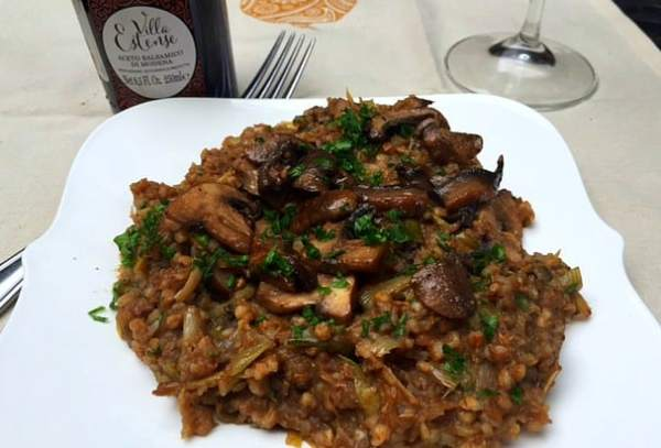 mushroom buckwheat risotto