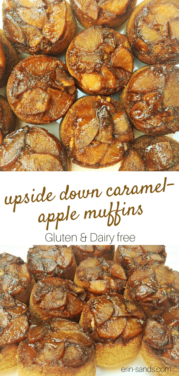 Upside Down Caramel Apple Muffins