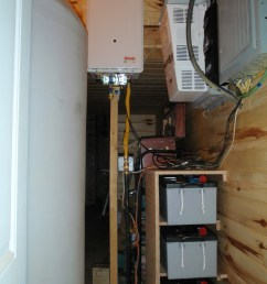 batteries water tank solar inverter hot water heater and the other workings of an off grid home [ 2736 x 3648 Pixel ]
