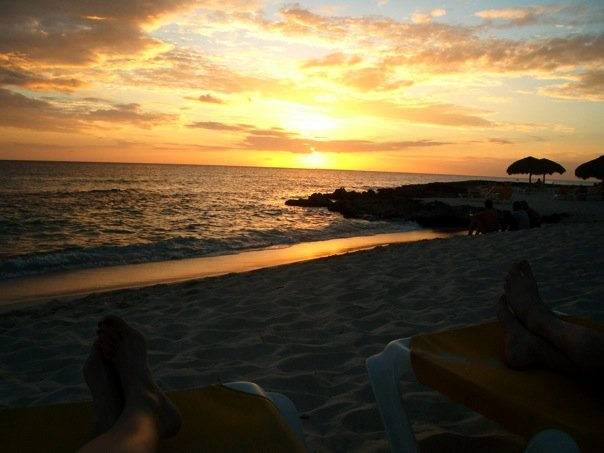 sunset in DR