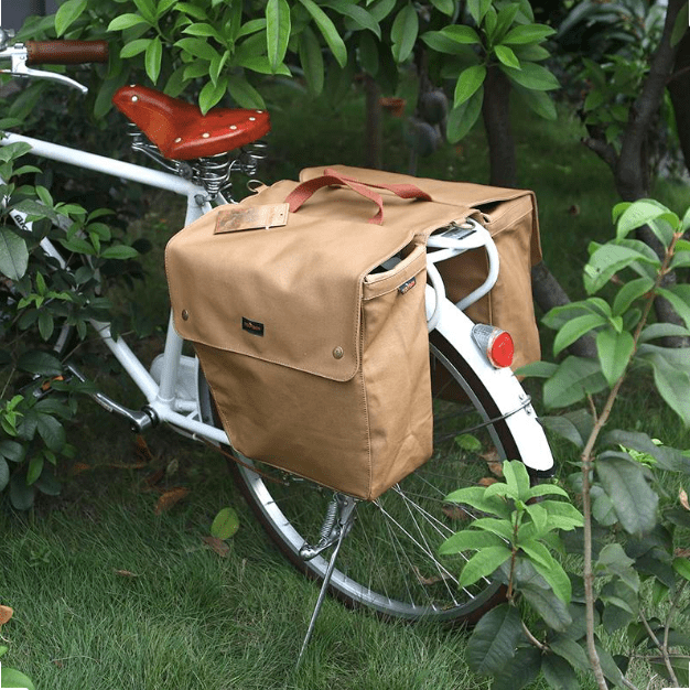 Beautiful bike pannier bags. No really.