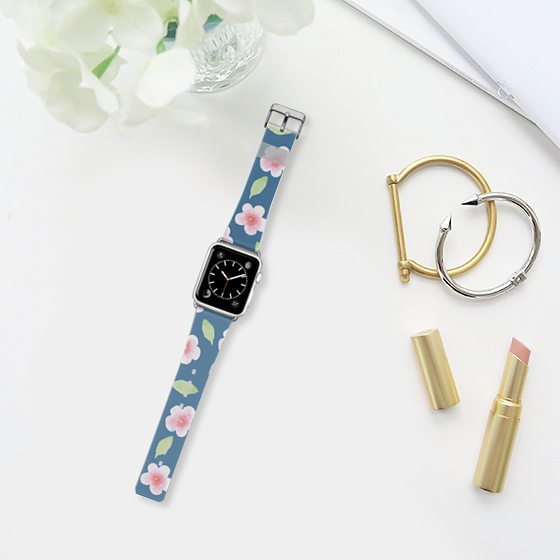 Sakura time!: Cherry blossom print Apple watch band by Casetifyb