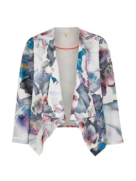 Sakura time!: Cherry blossom print waterfall jacket by Uttam Boutique